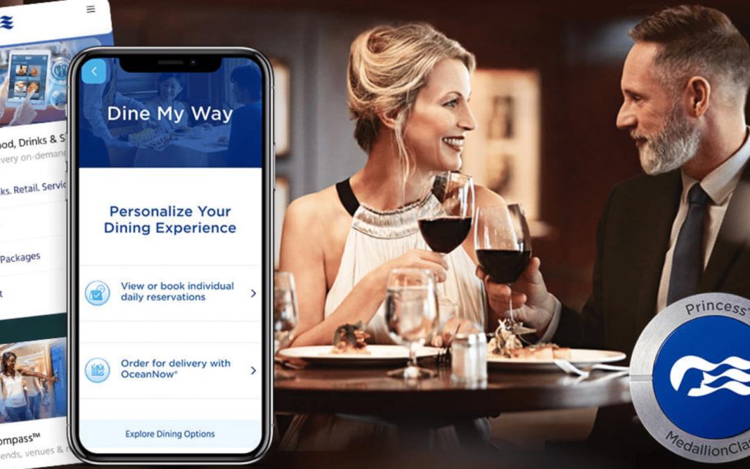 Princess Cruises introduceert Dine My Way in haar vloot