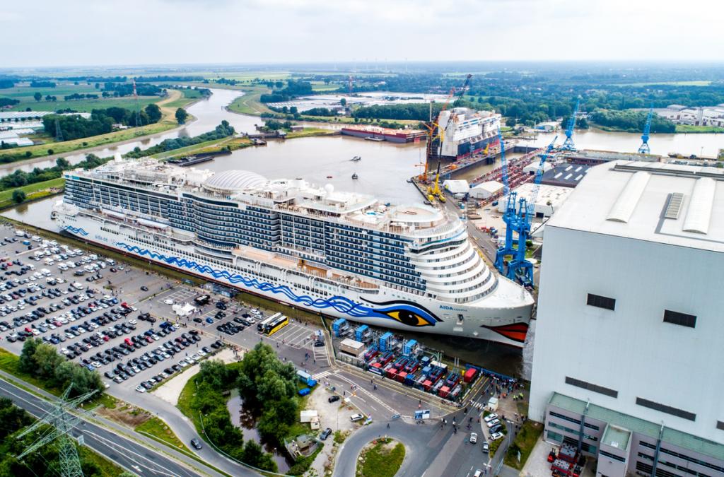 Aftermovie: Nieuwste cruiseschip AIDA Cruises verlaat bouwdok