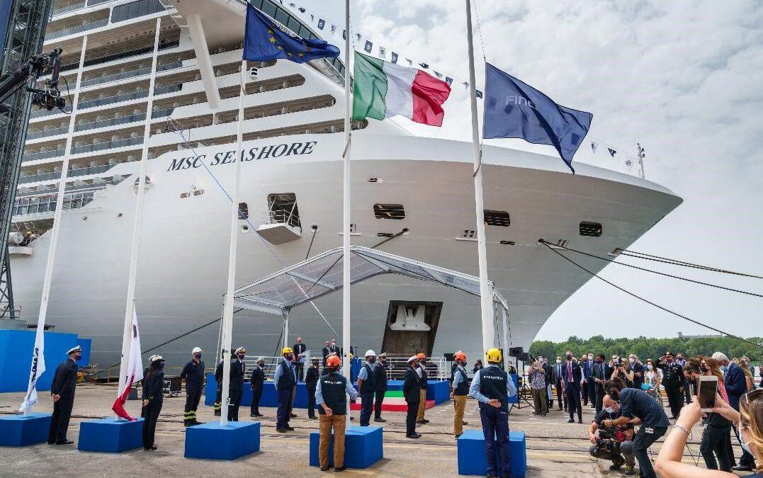 MSC Seashore door Fincantieri overgedragen aan MSC Cruises