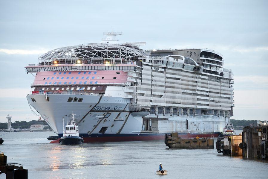 Wonder of the Seas begonnen aan eerste proefvaart