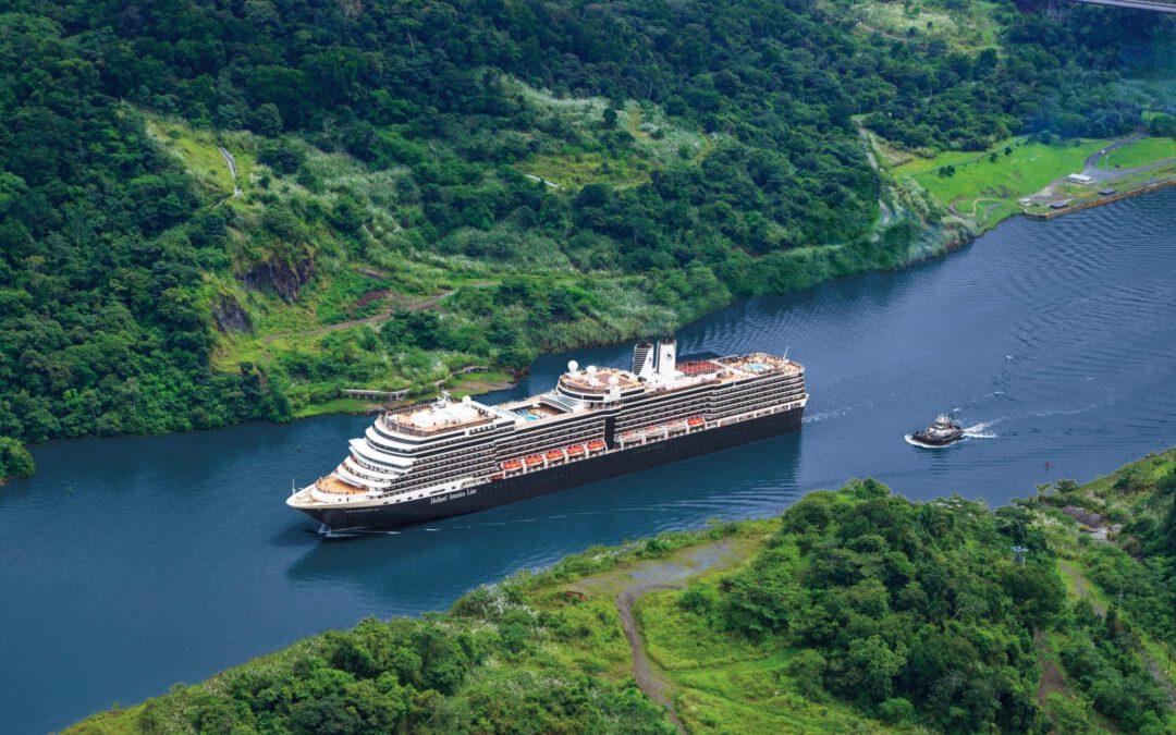 Holland America Line in 2022-2023 met 4 cruiseschepen door Panamakanaal