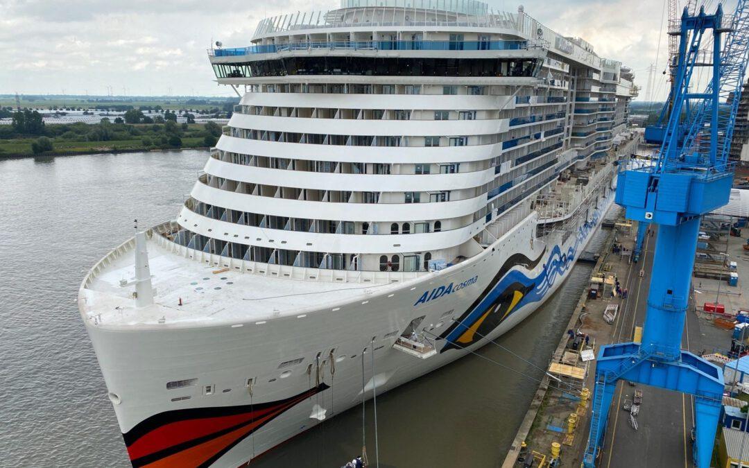 Nieuw cruiseschip AIDAcosma komt later in de vaart