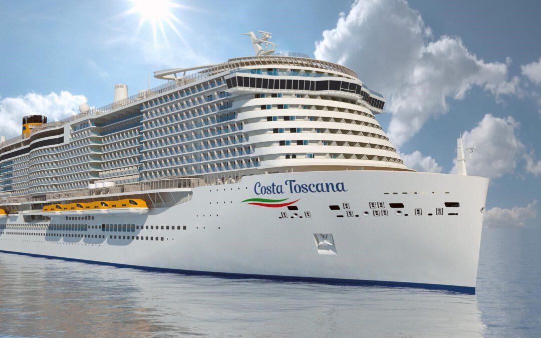 Costa Toscana begonnen aan eerste proefvaart
