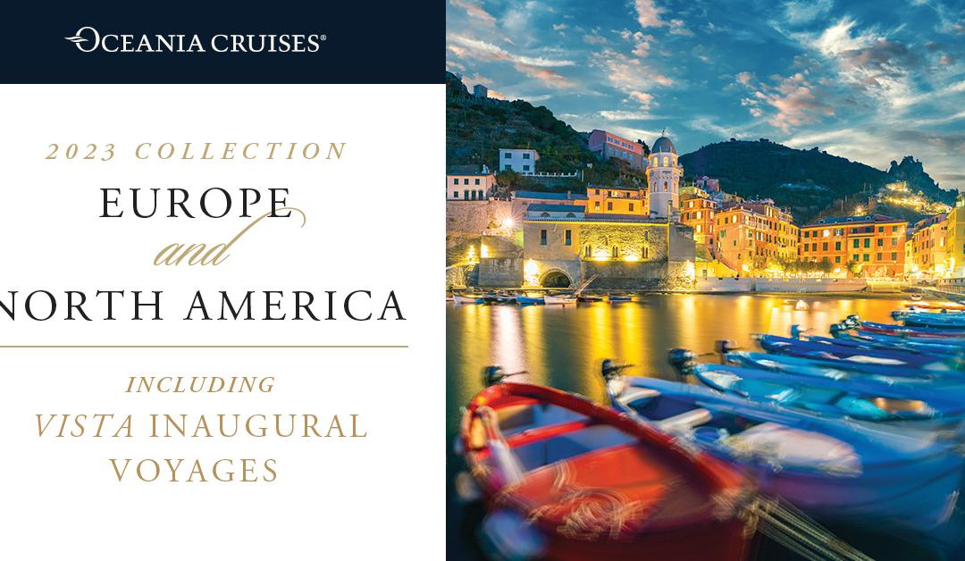 Uitnodiging voor webinar over nieuwe vaarprogramma 2023 van Oceania Cruises